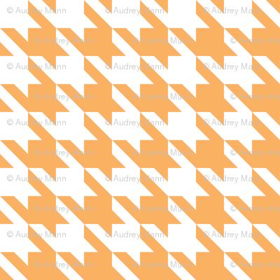 Houndstooth in Orange Dream