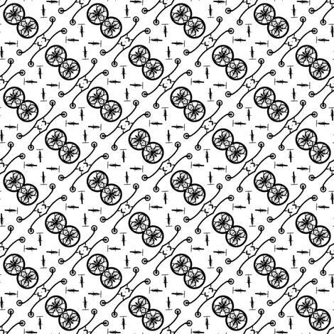 Black Bike 1, S fabric by animotaxis on Spoonflower - custom fabric