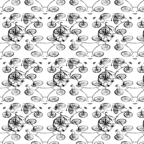 Black Bike 2, S fabric by animotaxis on Spoonflower - custom fabric