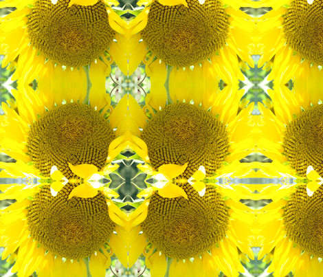 sunflower big fabric by krs_expressions on Spoonflower - custom fabric