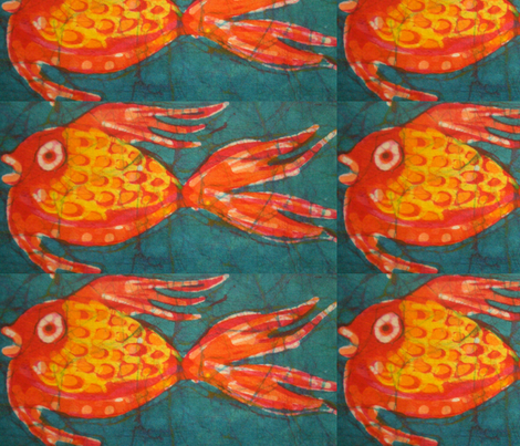 18 goldfish decals fabric by hooeybatiks on Spoonflower - custom fabric