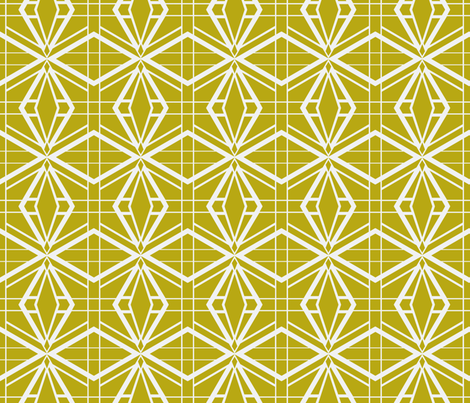 Thoroughly Deco in Gold fabric by miart on Spoonflower - custom fabric