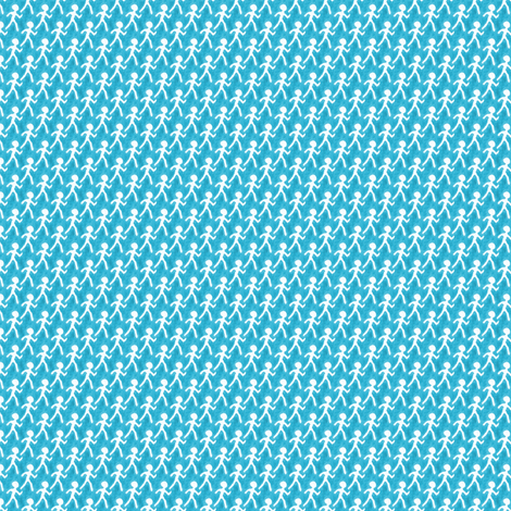 Walk - Blue fabric by siya on Spoonflower - custom fabric