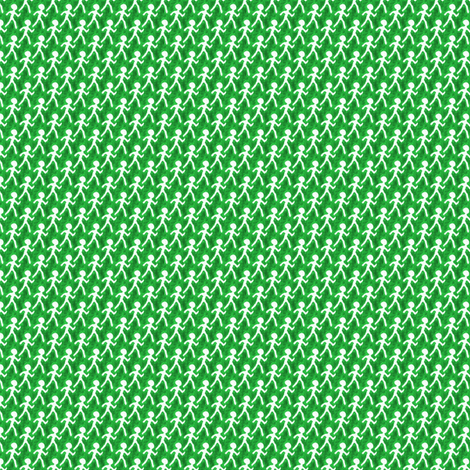 Walk - Green fabric by siya on Spoonflower - custom fabric