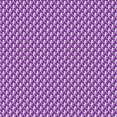 Walk - Purple fabric by siya on Spoonflower - custom fabric