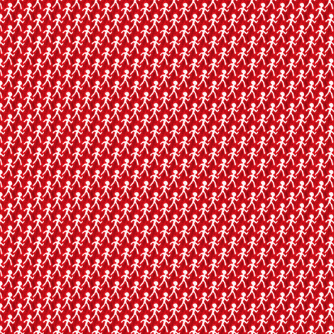 Walk - Red fabric by siya on Spoonflower - custom fabric