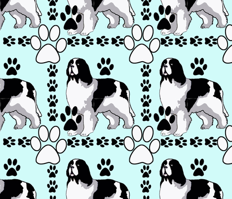 art deco Landseer fabric by dogdaze_ on Spoonflower - custom fabric
