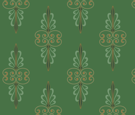 green fabric by wiccked on Spoonflower - custom fabric
