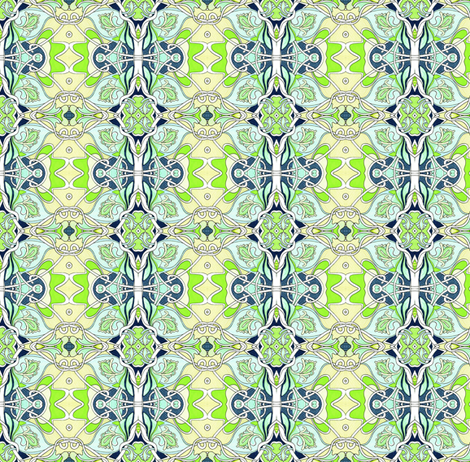 Let's Dance the Art Nouveau fabric by edsel2084 on Spoonflower - custom fabric
