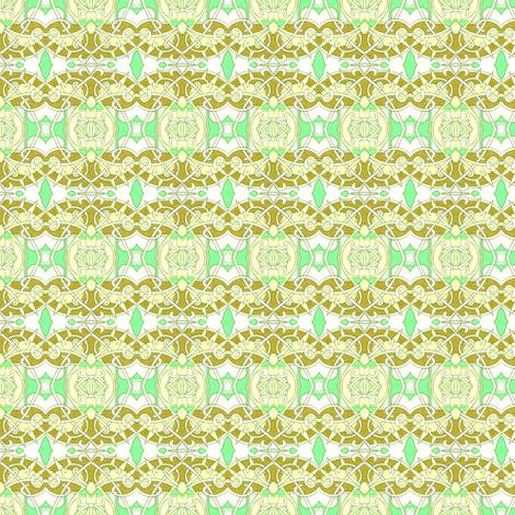Victorian Lemon Lime fabric by edsel2084 on Spoonflower - custom fabric