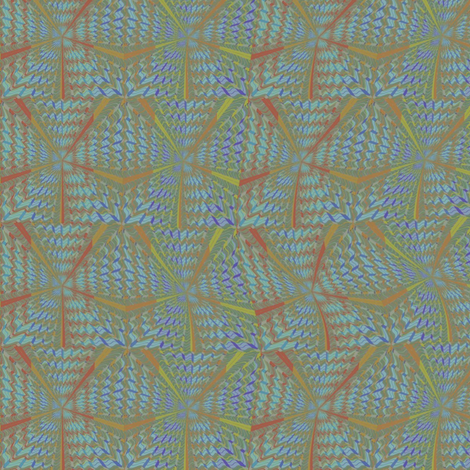 Haitian beach  walk fabric by david_kent_collections on Spoonflower - custom fabric