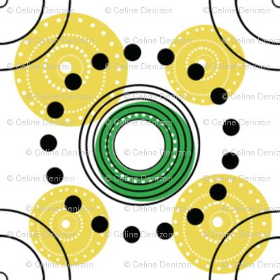 yellow dots and circles