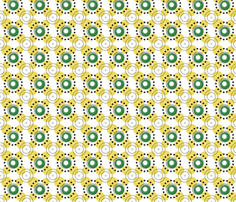 yellow dots and circles fabric by grafiketgrafok on Spoonflower - custom fabric