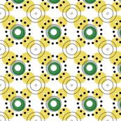 yellow dots and circles