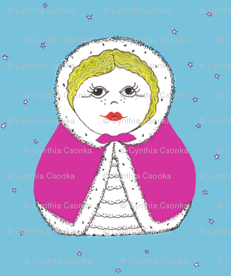 Matryoshka Doll in Pink