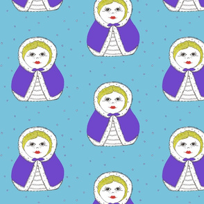 Matryoshka Doll in Purple