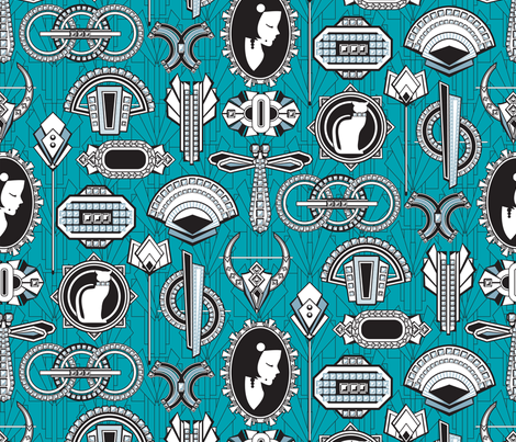 Art Deco Jewels fabric by cjldesigns on Spoonflower - custom fabric