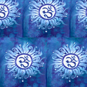 Blue Om Batik
