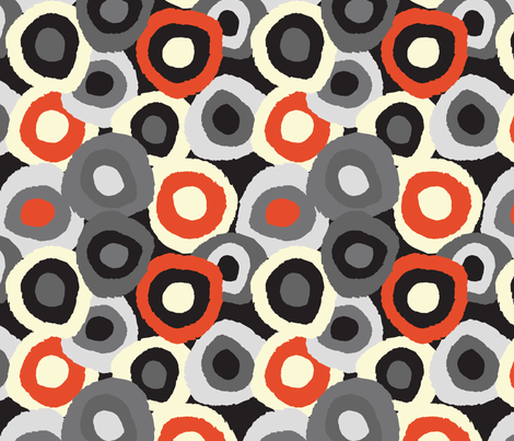 Target Dots Grey and Red fabric by gsonge on Spoonflower - custom fabric
