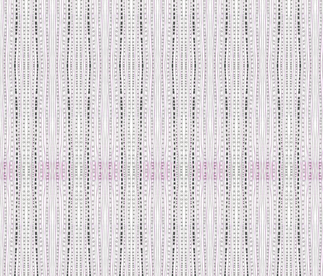 PinkBlackStripes fabric by ghennah on Spoonflower - custom fabric