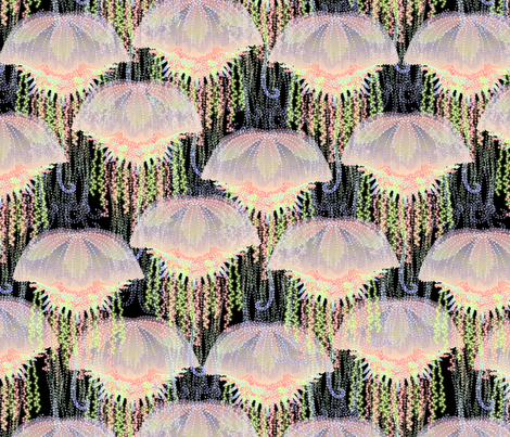 jellyfish on parade fabric by glimmericks on Spoonflower - custom fabric