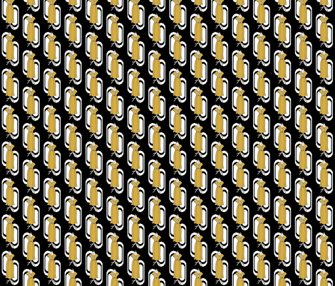 Yellow Art Deco Dress on Dress Form fabric by cnarducci on Spoonflower - custom fabric