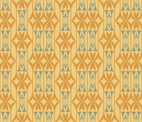 Diamonds, Columns and Deco fabric by chris_jorge on Spoonflower - custom fabric