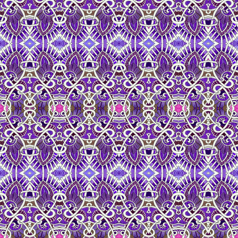 Her Royal  Purple Highness fabric by edsel2084 on Spoonflower - custom fabric