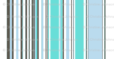 deco stripe / baby blue