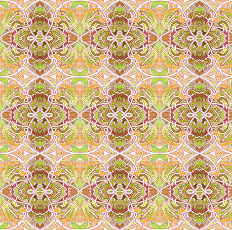 Peachy Keen fabric by edsel2084 on Spoonflower - custom fabric