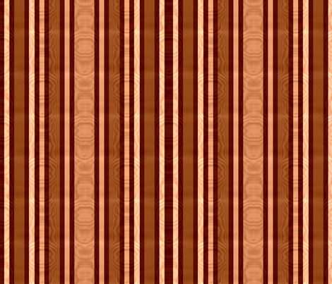 Burnt Sienna & Raw Umber Striped Moire fabric by peacoquettedesigns on Spoonflower - custom fabric