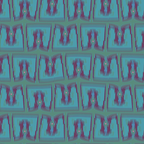 Jaipur (Blue) fabric by david_kent_collections on Spoonflower - custom fabric