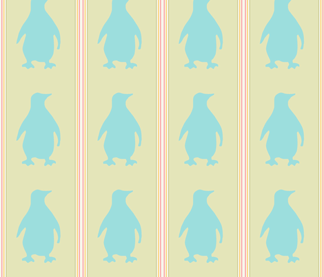 Penguin fabric by susanpolston on Spoonflower - custom fabric