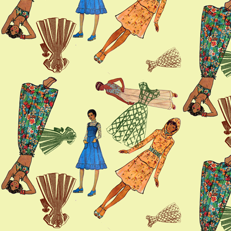 Fashion forward 2 fabric by nalo_hopkinson on Spoonflower - custom fabric