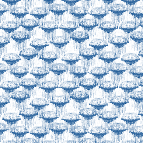 Blue Jellyfish Swarm fabric by glimmericks on Spoonflower - custom fabric