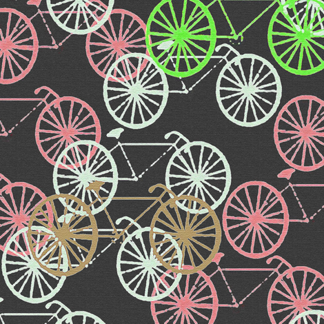 Bicycles fabric by susan_polston on Spoonflower - custom fabric