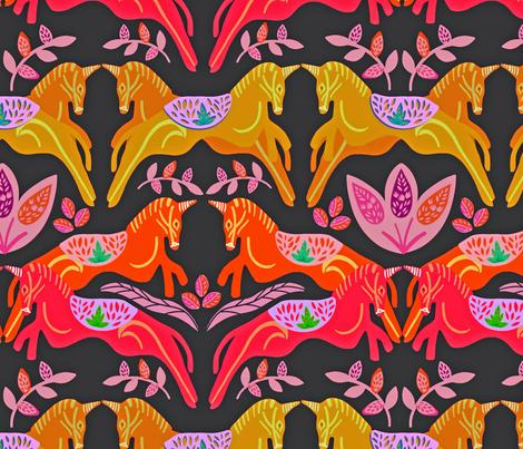 Unicorns fabric by susan_polston on Spoonflower - custom fabric