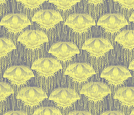 jellyfish sunshine fabric by glimmericks on Spoonflower - custom fabric
