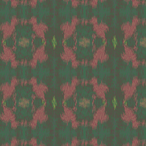 Ikat (Teal and Coral) fabric by david_kent_collections on Spoonflower - custom fabric