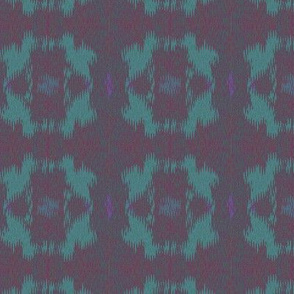 Ikat (Cornflower and Violet)