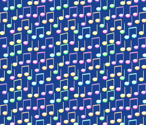 Colorful Musicnotes fabric by milimari on Spoonflower - custom fabric