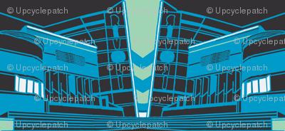 Art Deco Rivoli Repeat -  Blue-Dark-ch