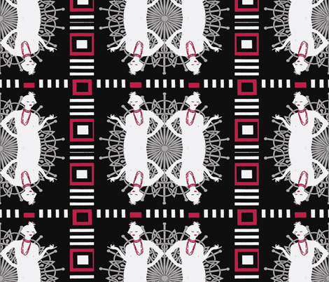 flappers  fabric by kociara on Spoonflower - custom fabric