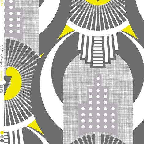 Art Deco New York fabric by zesti on Spoonflower - custom fabric