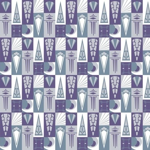 Artdeco silverware - purple