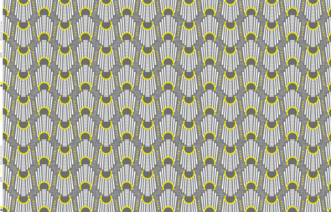 Art Deco Rings Yellow fabric by zesti on Spoonflower - custom fabric