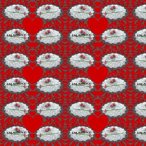 Imagine at Strawberry Fields fabric by robin_rice on Spoonflower - custom fabric