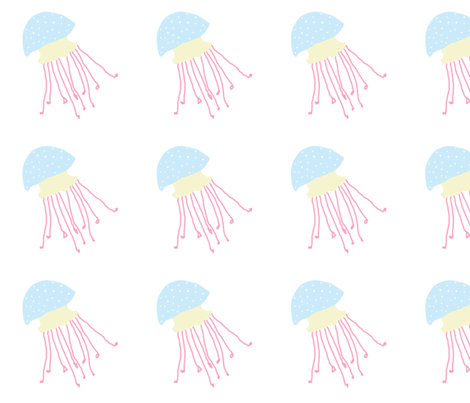 Jellyfish 1, L fabric by animotaxis on Spoonflower - custom fabric