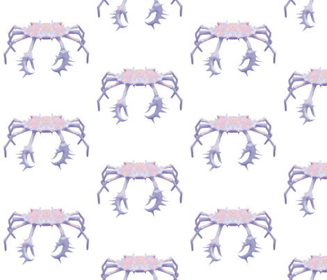 Crab 2, L fabric by animotaxis on Spoonflower - custom fabric