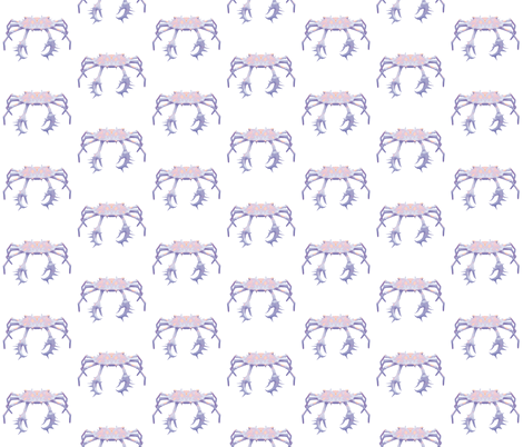 Crab 2, S fabric by animotaxis on Spoonflower - custom fabric